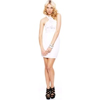 SEDUCE - Arabian Jewel Mini Dress (119SW4248 - White size 8)