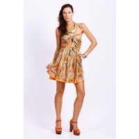 SEDUCE - Forbidden Fruit Sweetheart Dress (128SW4226 - Limey/Tropic Multi)