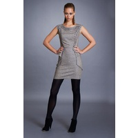 SEDUCE - Deadly Sin Dress (134SW4219 - Sand/Gunmetal)