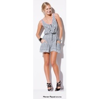 BEBE SYDNEY - Mercier Playsuit (32790 - Black/White size 8)