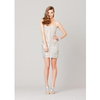 GRACE & HARTS - Stone Crystal Rollick Dress (42643 - Silver size 8)