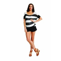 FATE - Thriller Stripe Knit (4480KNFA - Black/White Stripe)