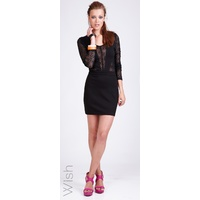 WISH - Quaint Dress (55255.2081 - Black size XS/8)