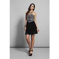 COOPER ST - Tough Love Bustier Dress (5CS5519 - Black/White)