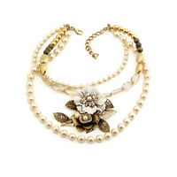 STELLA NEMIRO - Pearl Flower Necklace *Clearance*