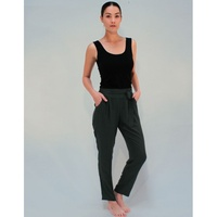 PIPER LANE - Pleat Pants (8660 - Black, Dark Green)
