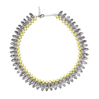 8 OTHER REASONS - Melrose Avenue Necklace (8ORMW13 - Clear Crystal, Pink)