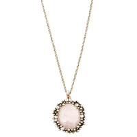 CHRISSY L - Abu Dhabi Necklace (Gold/Blush) *CLEARANCE*