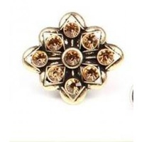 CHRISSY L - Allure Ring (ALL654 - Antique Gold/Topaz)