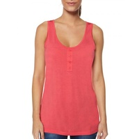 BETTY BASICS - New York Button Singlet (BB403 - Blue/White, Pink, Pink/Grey)