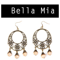 CHRISSY L - Bella Mia Earrings (Peach) *CLEARANCE*