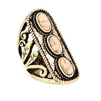 CHRISSY L - Bella Mia Ring (BEL912 - Antique Gold/Peach)