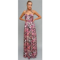 BARIANO - Strapless Grecian Maxi (BVD18 - Print size 6)