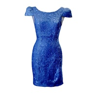 BARIANO - Cap Sleeve Lace Mini (BWD16 - Blue size 6)