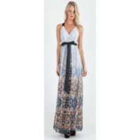 BARIANO - Gross Grain Detail Maxi (BWD25 - Ombre Print)