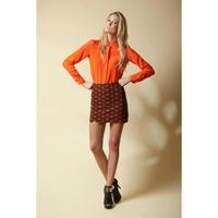 ELLIATT - Kaleidoscope Chain Skirt (EW2041304H - Black/Orange size XS)