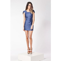 FINDERS KEEPERS - Burning Ground Dress (FX120907D - Midnight Blue)