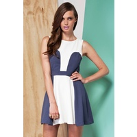 FINDERS KEEPERS - Paper Paradise Dress (FX121119D - Black/Blue, Ivory/Denim)