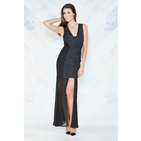 FINDERS KEEPERS - Perfect Stranger Maxi Dress (FX130338D - Black)