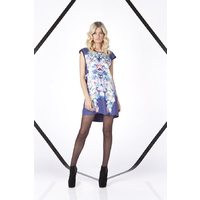 FINDERS KEEPERS - Blindsided Dress (FX130525DW - Flower Bomb Navy size XS)
