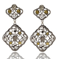 STELLA NEMIRO - Barcelona Earrings (GE00139S - Silver)