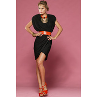 HONEY & BEAU - After Dusk Wrap Dress (HD49005 - Black size 6)