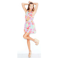 HOUSE OF WILDE - Wisteria Dress (HOW2140.900 - Bleeding Floral Print size S)
