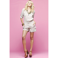 HONEY & BEAU - Staple Romper (HR48018 - Taupe size 8)