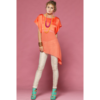 HONEY & BEAU - Pairing Top (HT49017 - Hot Pink, Orange)