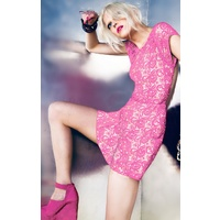 KUKU - Hot Stuff Dress (KU00536 - Neon Pink)