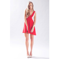 KEEPSAKE - Crossroads Mini Dress (KX120509D - Ruby/Beige)