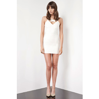 KEEPSAKE - Always Where I Need To Be Dress (KX121001D - Black, Ivory)