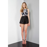 KEEPSAKE - Can't Stop Now Playsuit (KX130334PS - Baroque Print/Black Monochrome size S)