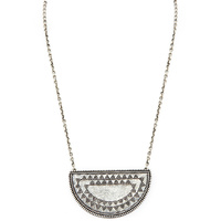 HOUSE OF HARLOW - Tuareg Granulation Necklace (N002068- Antique Silver)