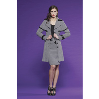 PINK RUBY - Combo Trench (PC15033 - Black/White size 8)