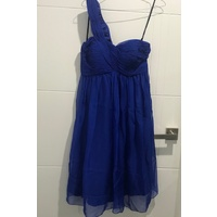 JADORE - SD014/C Ruched One Shoulder Dress (Royal Blue)