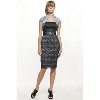 JADORE - SD086 Strapless Bodice Dress (Silver size 12)