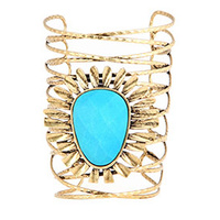 CHRISSY L - Tuscan Sun Cuff (TUS896 - Antique Gold/Turquoise)