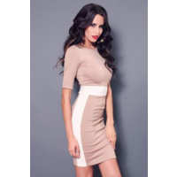 ABYSS - Line Of Fire Dress (7427 - Nude/White size L)