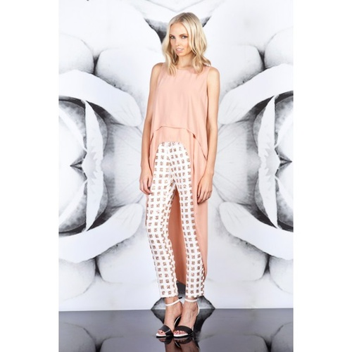 FINDERS KEEPERS - Moment In Time Pants (FX130445P - Ivory/Rose Gold size XS) SOLD EBAY 13/11/2020