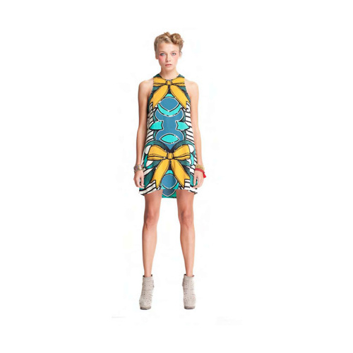 HOUSE OF WILDE - Shamrock Dress (HOW2539.900 - Ribbon Print)
