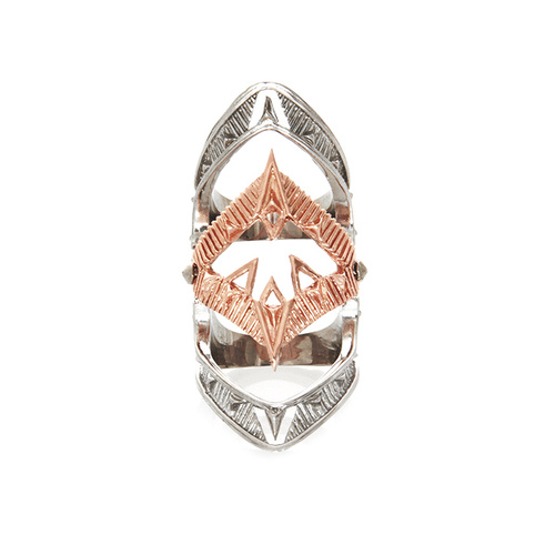 HOUSE OF HARLOW - Moroccan Goum Armour Ring (R001067P - Rose Gold size 7)